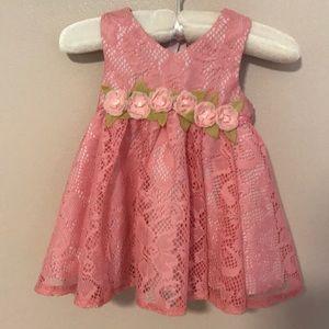 Laura Ashley 3/6 month pink dress